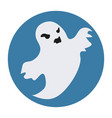 ghost icon flat style isolated on white vector image