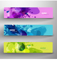 set of three abstract colorful headers vector image