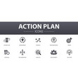action plan simple concept icons set contains vector image