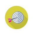 Arrow in Target Icon in Flat Style Design vector image vector image