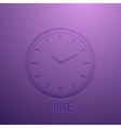background with clock icon vector image