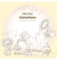 Background with gramophones vector image vector image