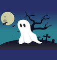 boo ghost halloween background vector image