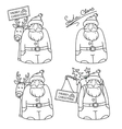 Cartoons Santa Claus with gifts and reindeer vector image vector image
