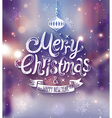 christmas blurred city vector image vector image