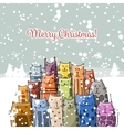 Christmas card with happy cats family vector image vector image