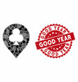 collage clubs casino pointer with grunge good year vector image vector image