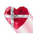 crystal gem flag of the kingdom of denmark vector image