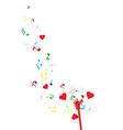dandelion notes heart color vector image vector image
