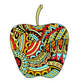 Decorative colored apple vector image vector image