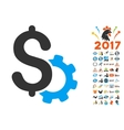 Development Price Icon With 2017 Year Bonus vector image vector image