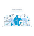 digital marketing media planning online business vector image vector image