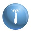 elegance tie icon simple style vector image