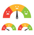 emotional scale mood indicator customer vector image vector image