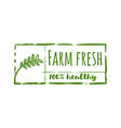 farm fresh label logo designs inspiration vector image