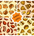 fast food patterns set vector image vector image