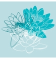 Floral background with water lily vector image