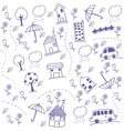 Funny draw kids doodle art vector image vector image