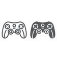 game controller line and glyph icon game and play vector image vector image