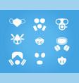 gas masks and respirators icons set vector image