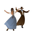 gaucho with mustache and hat and woman with vector image