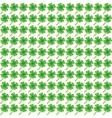 Green clover leaf pattern vector image