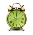 green retro style alarm clock vector image vector image