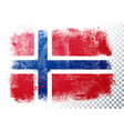 grunge and distressed flag norway vector image vector image