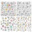 hand drawn seamless patterns zero waste vector image vector image