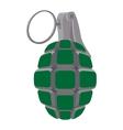 Hand grenade cartoon icon vector image vector image