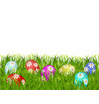 happy easter easter painted eggs with a pattern vector image vector image