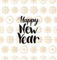 happy new year lettering design on vector image