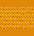 honey comb pattern vector image vector image