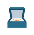 jewelry placed in box present vector image vector image