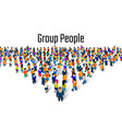 large group people in shape a grossing vector image vector image