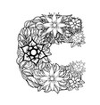 letter c dudling drawing mandala vector image vector image
