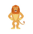 lion angry wild animal evil emotions beast vector image
