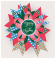 Merry christmas song paper jewelry vector image vector image