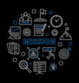 mission circular business concept outline vector image vector image
