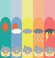 Moods Cute Pastel Old Woman Flat Cartoon vector image