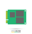 mSATA solid state drive SSD vector image vector image