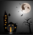 mystery house at halloween night vector image