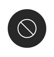 no sign icon vector image vector image