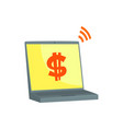 online payments with laptop internet banking vector image