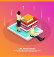 online training isometric design concept vector image vector image