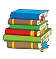 pile of various color books vector image vector image