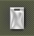 plastic hang pouch transparent pocket wrap vector image
