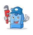 plumber pencil sharpener character cartoon vector image vector image