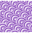 Purple seamless swirl pattern vector image vector image