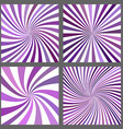 Purple spiral ray and starburst background set vector image vector image